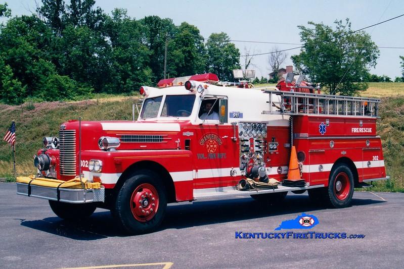 <center> RETIRED <br> Orangeburg  Engine 302 <br> x-Wilder, KY <br> 1970 Pirsch 1250/300 <br> Greg Stapleton photo </center>