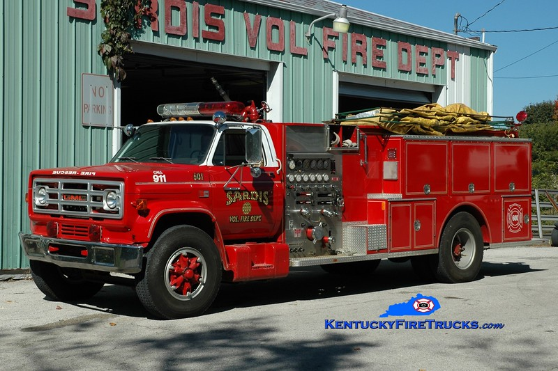 Sardis  Engine 601 <br /> x-Owenton, KY<br /> 1985 GMC/Boyer 1000/1000<br /> Greg Stapleton photo