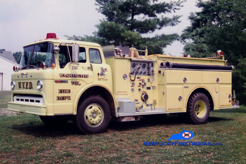<center> RETIRED <br> Washington-Maysville  Engine 201  <br> 1981 Ford C/Grumman-Howe 1000/750 <br> Greg Stapleton photo </center>