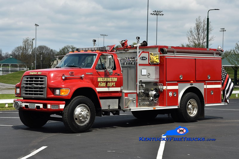 Washington  Engine 101<br /> x-Augusta, KY & Washington-Maysville, KY <br /> 1995 Ford F-800/E-One 1250/1000<br /> Greg Stapleton photo