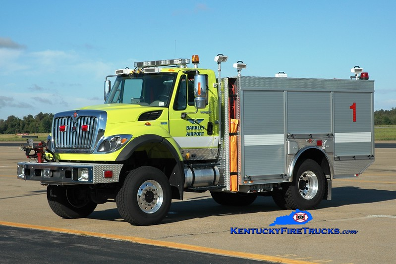 <center> Barkley Regional Airport  Unit 1 <br> 2011 International 7300 4x4/Rosenbauer-General 500/750/125 <br> Greg Stapleton photo </center>