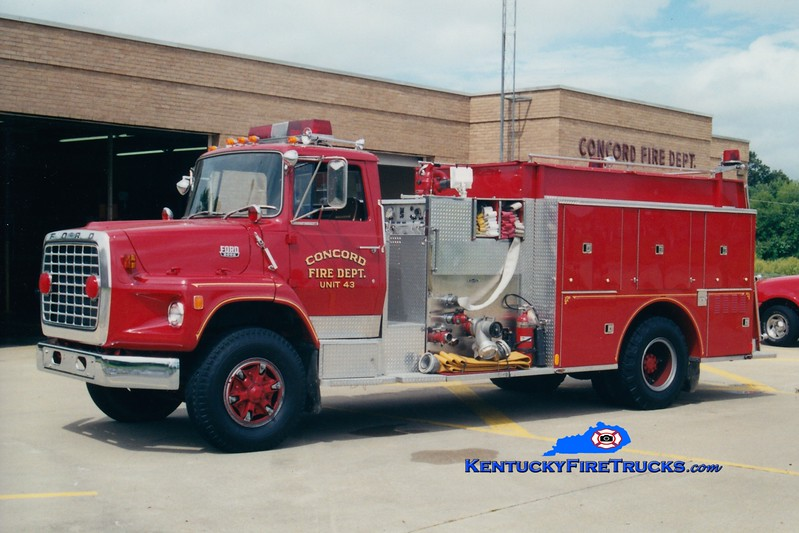 <center> RETIRED <Br> Concord  Engine 43 <br> 1983 Ford L/Quality 1000/1350 <br> Greg Stapleton photo </center>