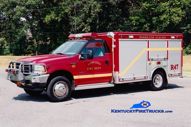 <center> RETIRED <br> Concord  Rescue 47 <br> 2002 Ford F-550 4x4/EVI <br> Greg Stapleton photo </center>