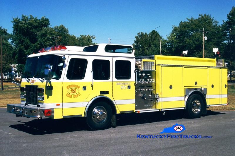 <center> Hendron  Engine 23 <br> 1996 E-One Sentry 1500/750/30 <br> Greg Stapleton photo </center>