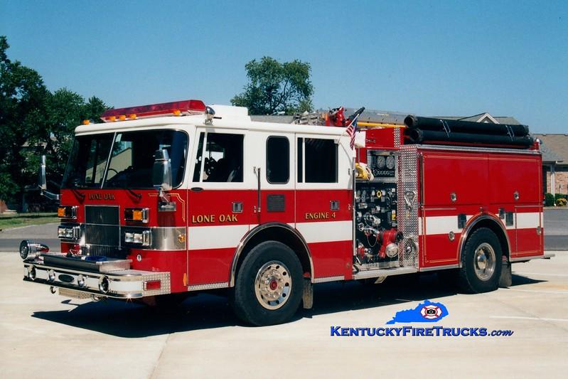 <center> Lone Oak  Engine 4 <br> 1995 Pierce Saber 1250/1000 <br> Greg Stapleton photo </center>