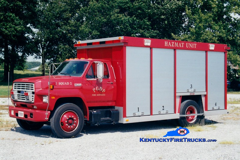 <center> RETIRED <BR> Paducah Gaseous Diffusion Plant  Squad 2 <br> 1991 Ford F-800/Summit  <br> Greg Stapleton photo </center>