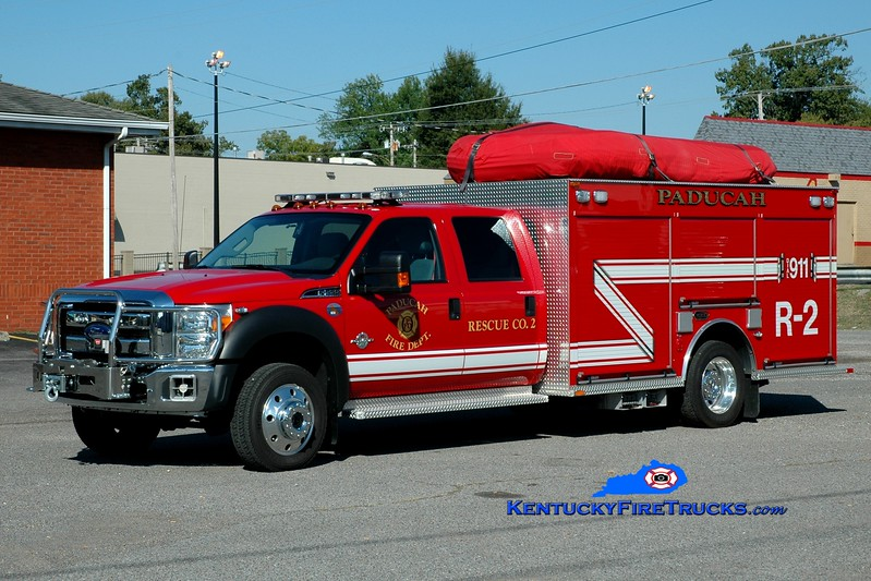 <center> Paducah  Rescue 2 <br> 2013 Ford F-550 4x4/KME <br> Greg Stapleton photo </center>