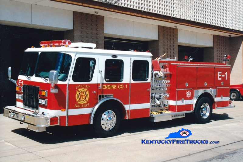 <center> RETIRED <br> Paducah  Engine 1 <br> 1994 E-One Protector TC 1250/500 <br> Greg Stapleton photo </center>