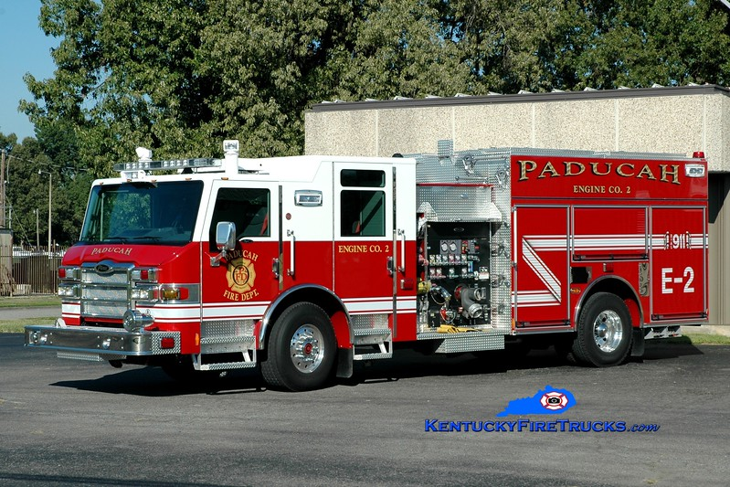 <center> Paducah  Engine 2 <br> 2013 Pierce Impel  1500/750 <br> Greg Stapleton photo </center>