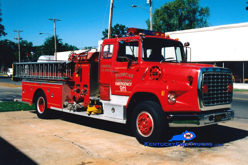 <center> RETIRED <br> Paducah  Engine 5 <br> 1982 Ford LS/Pirsch 1250/500 <br> Greg Stapleton photo </center>