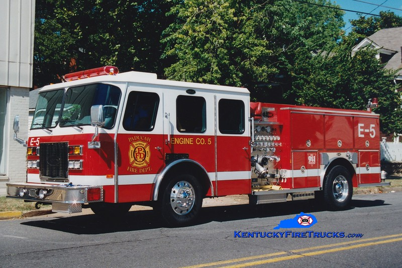 <center> Paducah  Engine 5 <br> 1994 E-One Protector TC 1250/500 <br> Greg Stapleton photo </center>