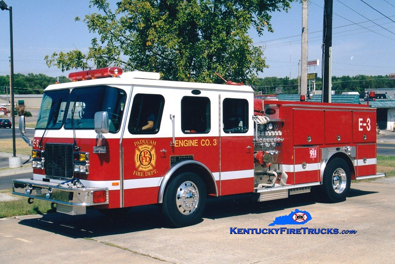 <center> RETIRED <br> Paducah  Engine 3  <br> 1994 E-One Protector TC 1250/500 <br> Greg Stapleton photo </center>