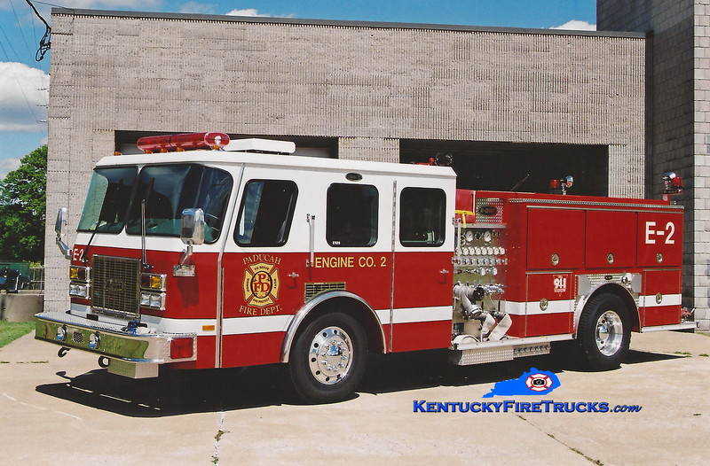 <center> Paducah  Reserve Engine 6 <br> *Served as Engine 2 <br> 1995 E-One Protector TC 1250/500 <br> Greg Stapleton photo </center>