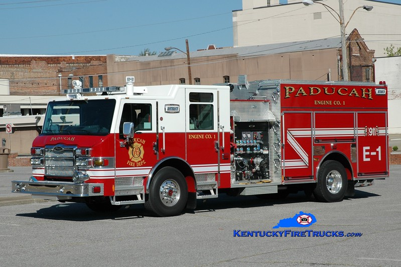 <center> Paducah  Engine 1 <br> 2013 Pierce Impel  1500/750 <br> Greg Stapleton photo </center>