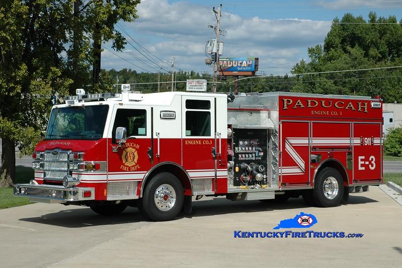 <center> Paducah  Engine 3 <br> 2012 Pierce Impel  1500/750 <br> Greg Stapleton photo </center>
