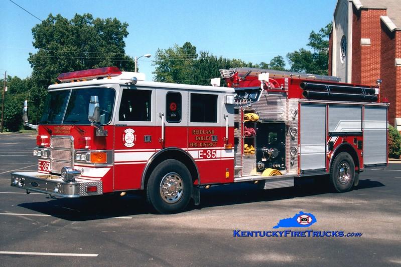 <center> Reidland Farley  Engine 35 <br> 2001 Pierce Saber 1500/750 <br> Greg Stapleton photo </center>