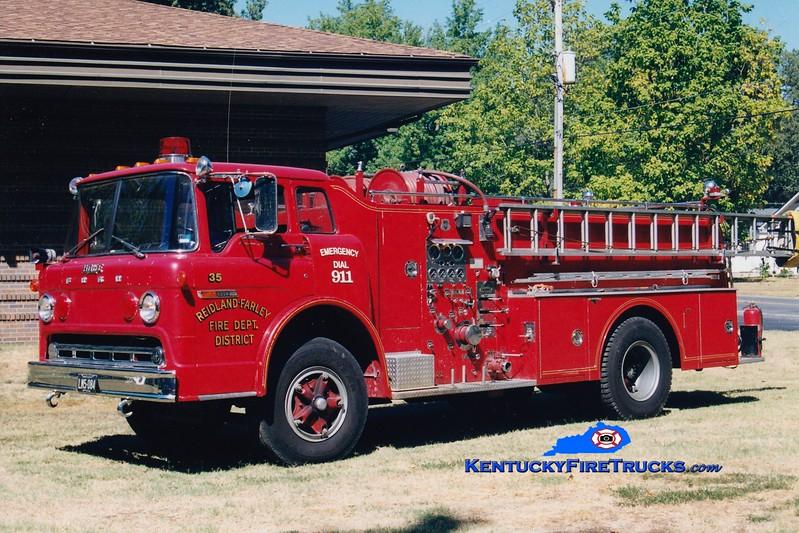 <center> RETIRED <br> Reidland Farley  Engine 35 <br> 1977 Ford C/Grumman 1000/750 <br> Greg Stapleton photo </center>