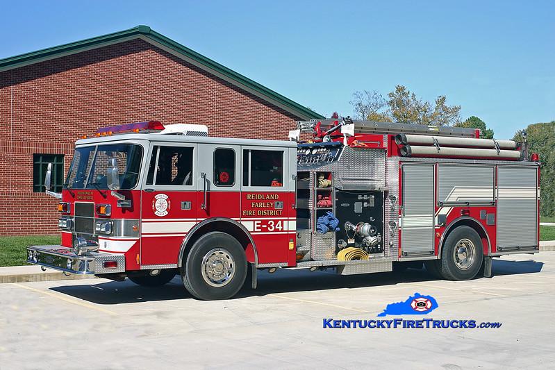 <center> Reidland Farley  Engine 34 <br> 1998 Pierce Saber 1500/1000/30 <br> Kent Parrish photo </center>