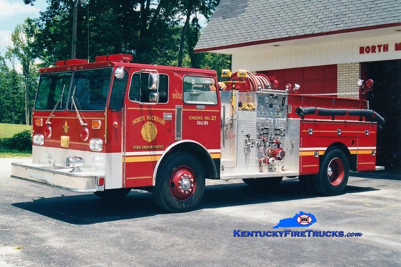 RETIRED<br /> North McCreary  Engine 27<br /> x-Louisville, KY<br /> 1970 Ward LaFrance/1987 Duplex-Summit 1000/800<br /> Greg Stapleton photo