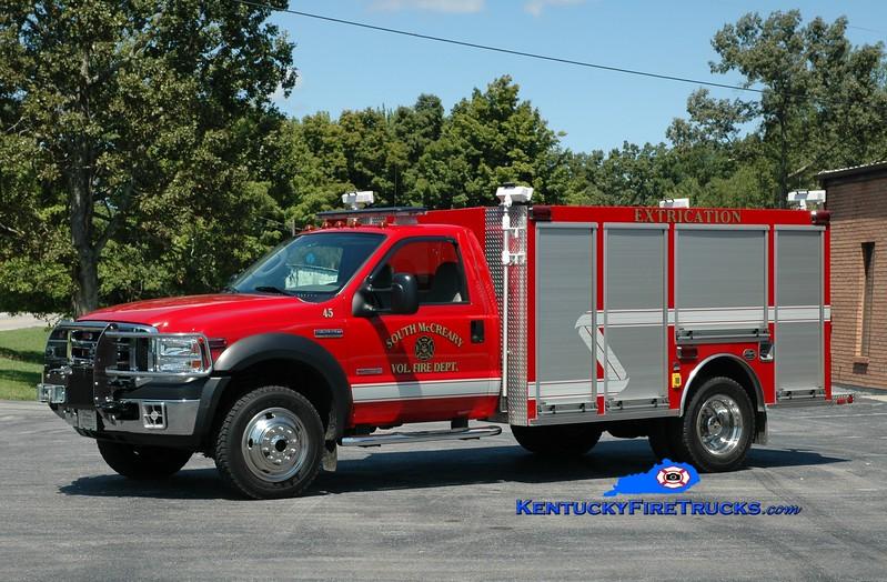 <center> South McCreary  Rescue 45 <br> 2007 Ford F-550 4x4/Wynn  <br> Greg Stapleton photo </center>