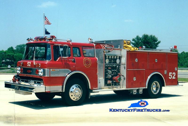 <center> RETIRED <br> Whitley City  Engine 52 <br> 1976 Ford C/Pierce 1000/500 <br> Greg Stapleton photo </center>