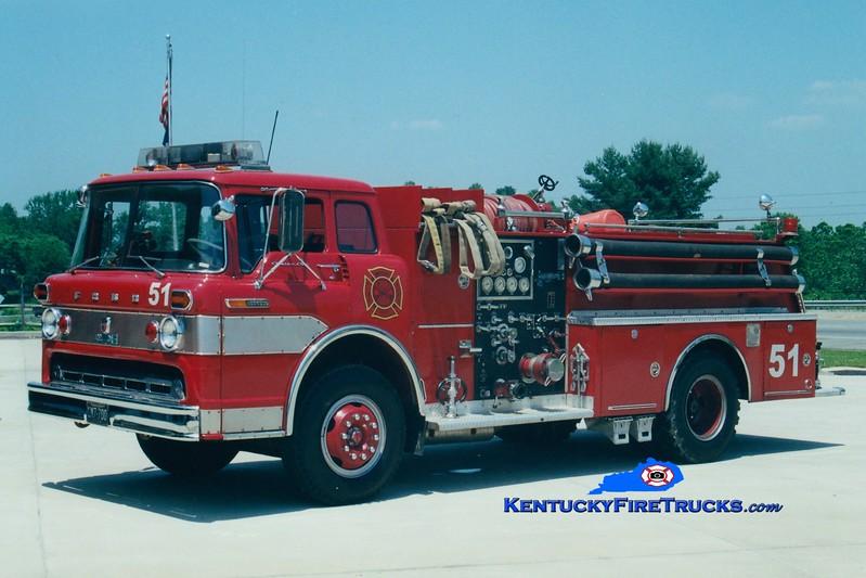 <center> RETIRED <br> Whitley City  Engine 51 <br> 1968 Ford C/Boardman 1000/500 <br> Greg Stapleton photo </center>