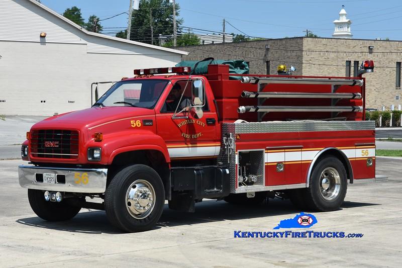 RETIRED <br /> Whitley City Tanker 56<br /> 2000 GMC 8500/2010 Wynn 450/1500 <br /> Greg Stapleton photo