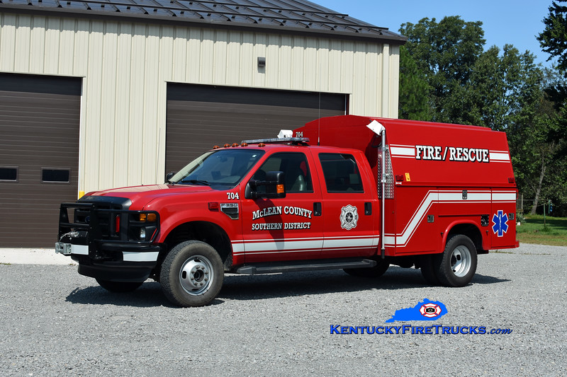 McLean County Southern District  Rescue 704<br /> 2009 Ford F-350 4x4/Knapheide <br /> Kent Parrish photo