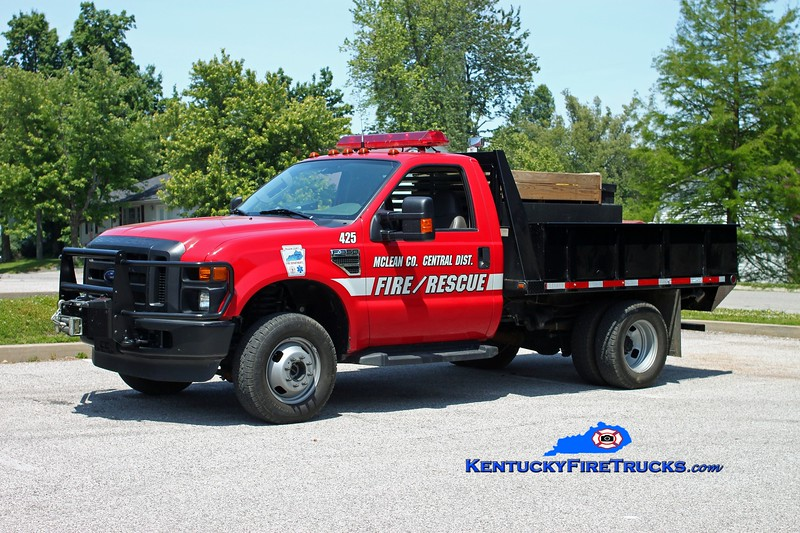 <center> McLean County Central District Brush 425  <br> 2009 Ford F-350 4x4/FD 400/250 <br> Kent Parrish photo </center>