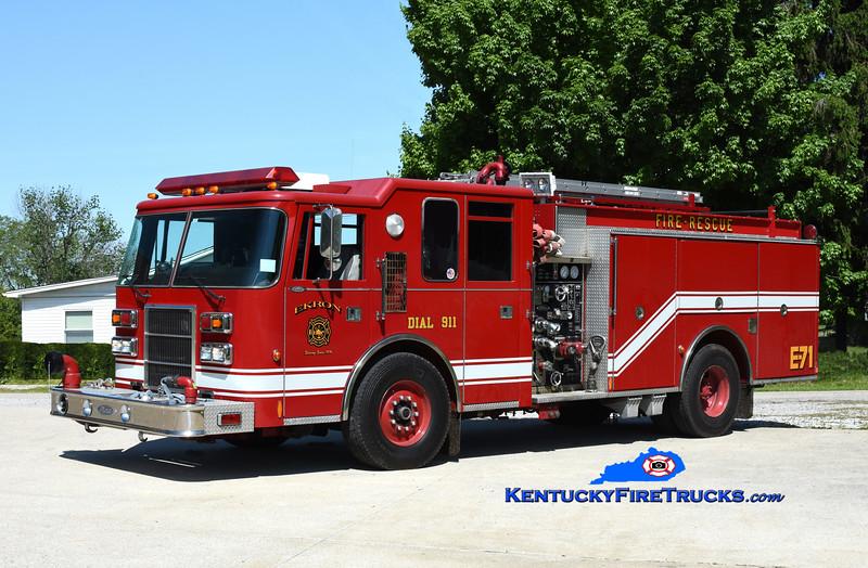 Ekron Engine 71<br /> x-Clarksville, IN<br /> 1995 Pierce Dash 1500/500<br /> Kent Parrish photo