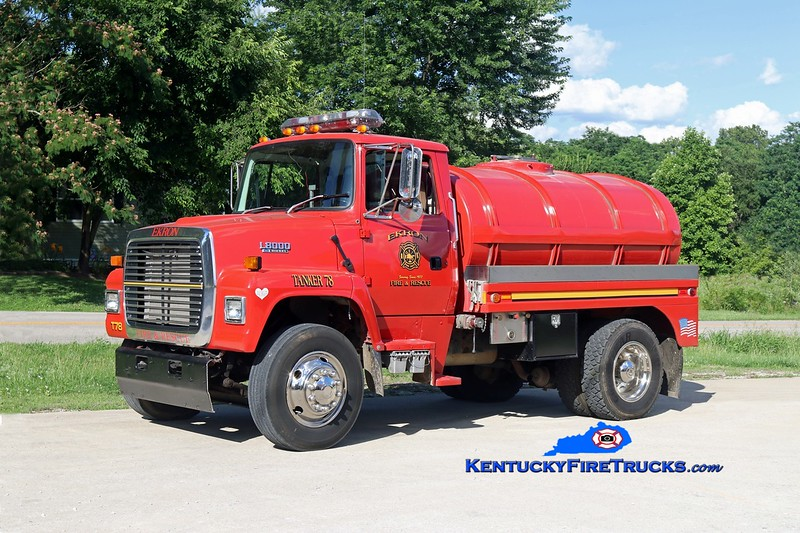 RETIRED <br /> Ekron  Tanker 78<br /> 1994 Ford L8000/Local 250/1800<br /> Kent Parrish photo
