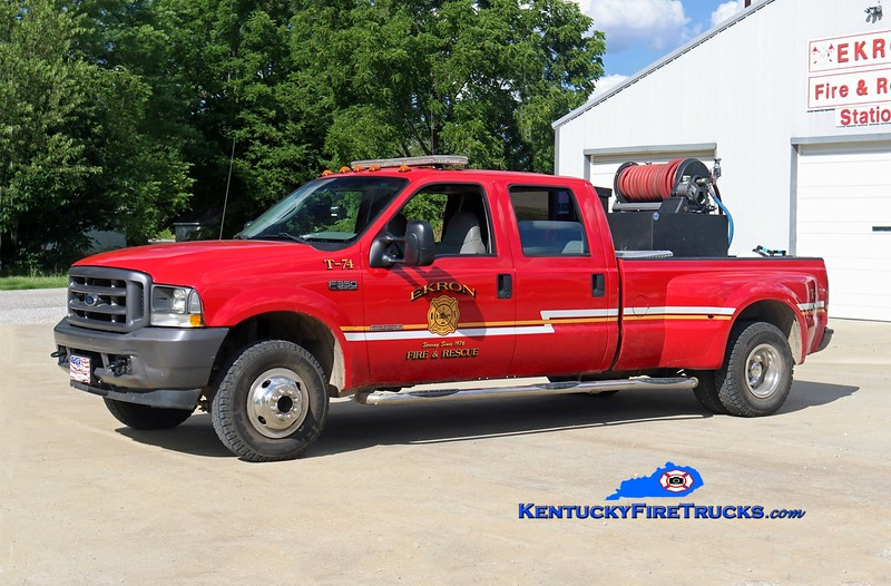 RETIRED <br /> Ekron  Brush 74<br /> 2003 Ford F-350 4x4/Fast Attack 250/250<br /> Kent Parrish photo