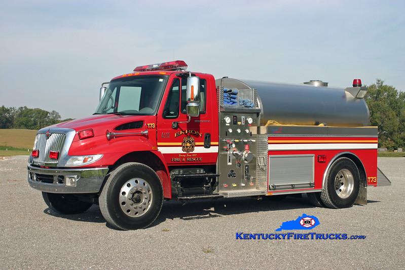 <center> Ekron  Tanker 73 <br> 2004 International 4400/Bluegrass 500/2000 <br> Kent Parrish </center>