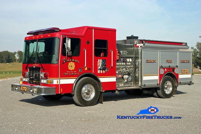 <center> Ekron  Engine 72 <br> 2008 HME SFO Silverfox 1500/1200/40 <br> Kent Parrish photo </center>