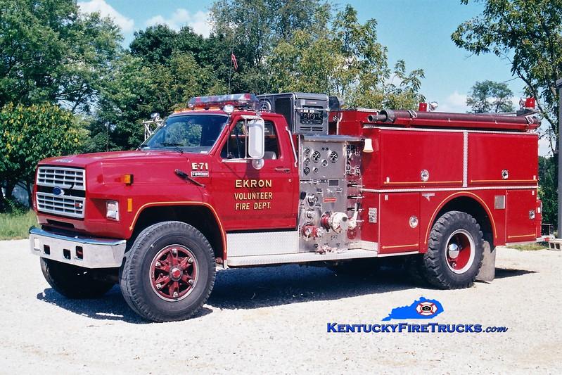 RETIRED <br /> Ekron  Engine 71<br /> 1985 Ford F/Grumman 1000/1000<br /> Greg Stapleton photo