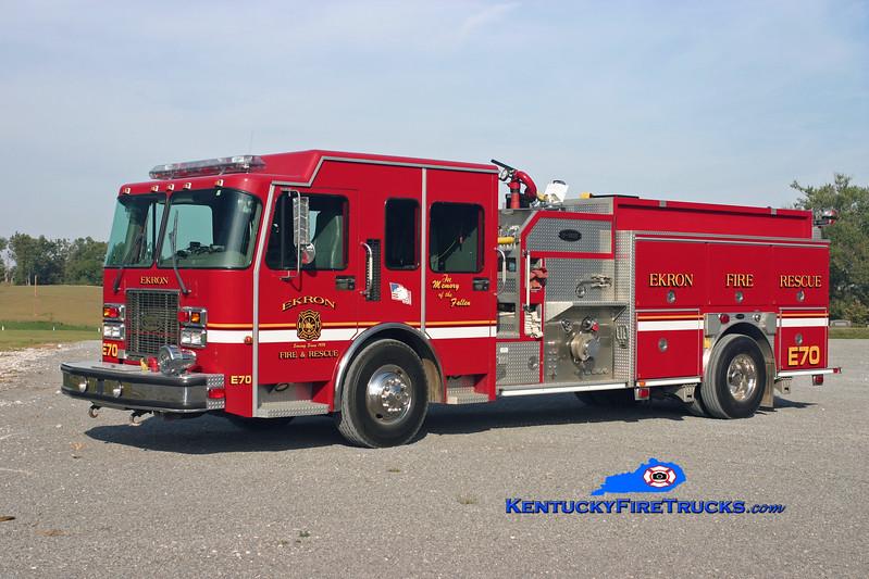 <center> Ekron Engine 70 <br> 2000 Spartan MetroStar/E-One 1250/1250/40 <br> Kent Parrish photo </center>