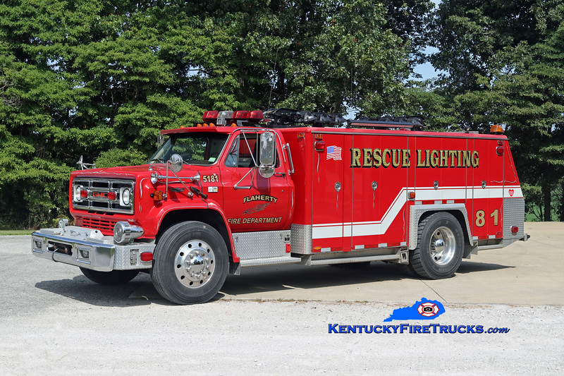 Flaherty  Rescue 5181<br /> x-Mohegan FC-Montville, CT & Science Hill, KY<br /> 1985 Chevy C70/Super-Vac<br /> Kent Parrish photo