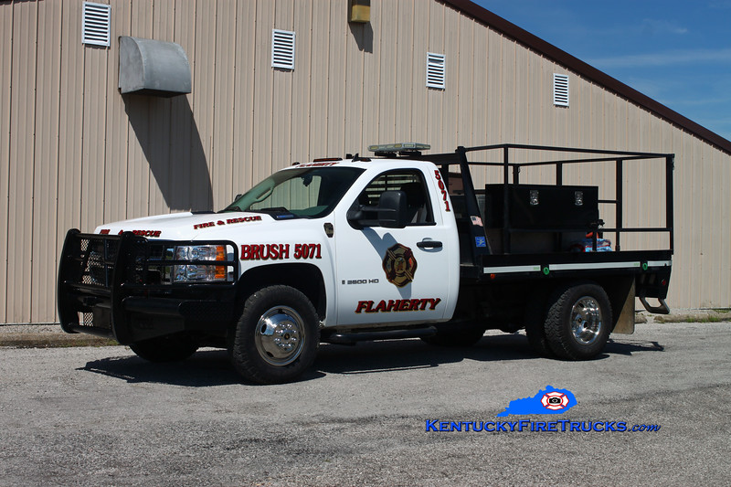 <center> Flaherty  Brush 5071 <br> 2007 Chevy 3500 4x4/FFD 250/250 <br> Kent Parrish photo </center>