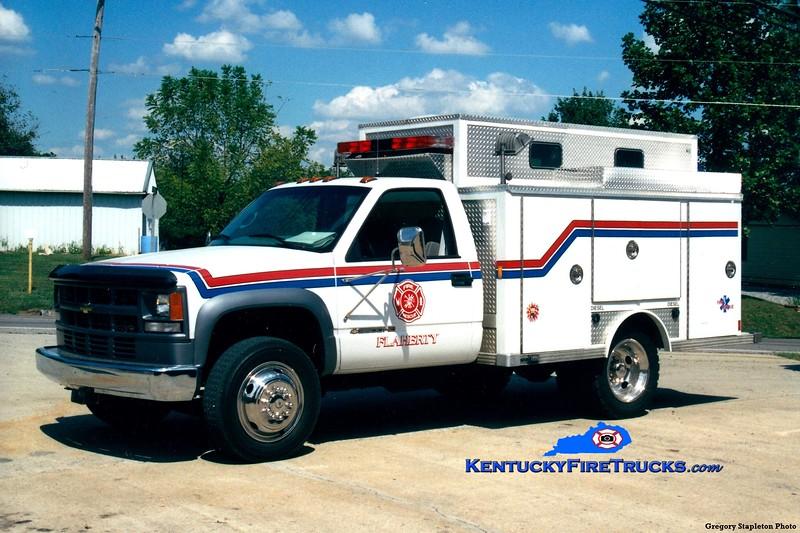 Flaherty Rescue 5182<br /> 2001 Chevy 3500 4x4/Supreme (older E-One body)<br /> Greg Stapleton photo