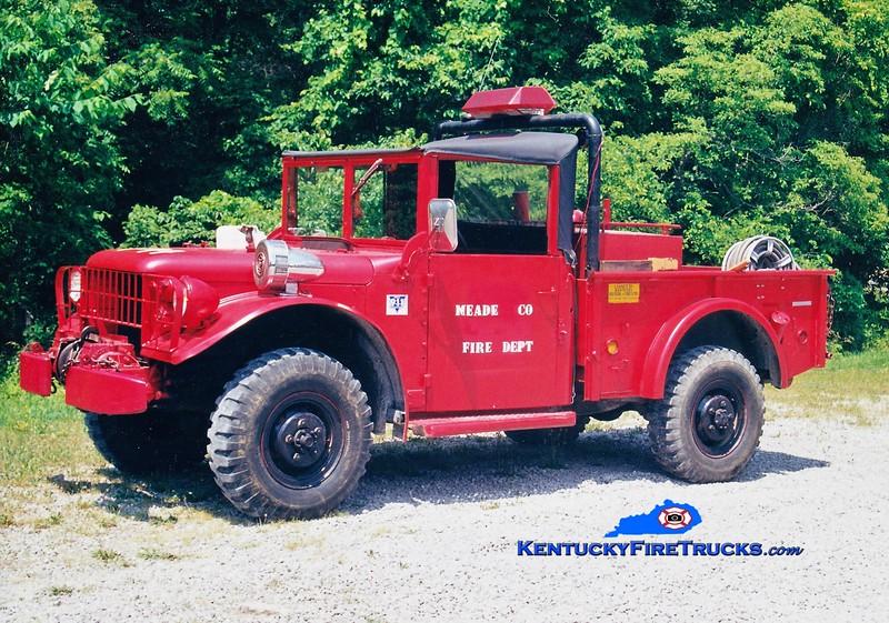 RETIRED<br /> Meade County  Brush 44<br /> 1962 Dodge M37 4x4/FD 250/200<br /> Greg Stapleton photo