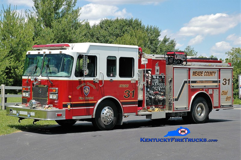 Meade County  Engine 31<br /> x-Engine 44 <br /> 2000 Spartan Advantage/Smeal 1500/750/30<br /> Greg Stapleton photo