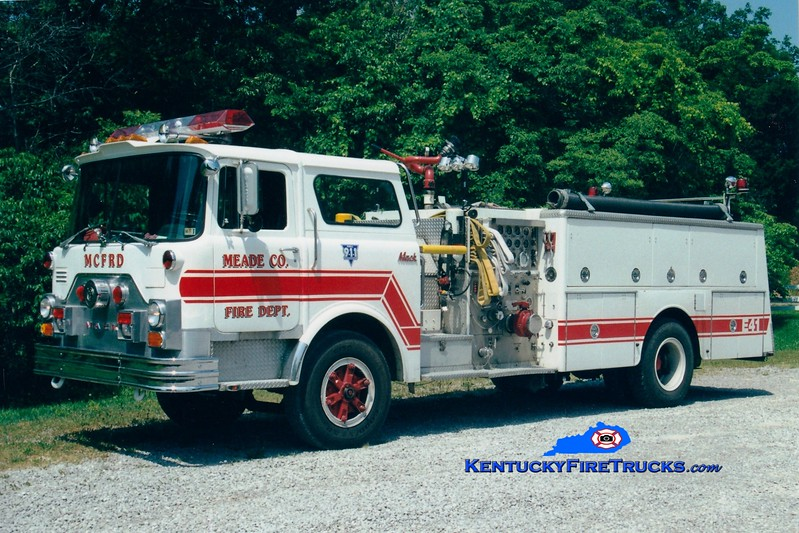 <center> RETIRED <br> Meade County  Engine 41 <br> x-Horsham, PA <br> 1979 Mack CF 1250/1000 <br> Greg Stapleton photo </center>