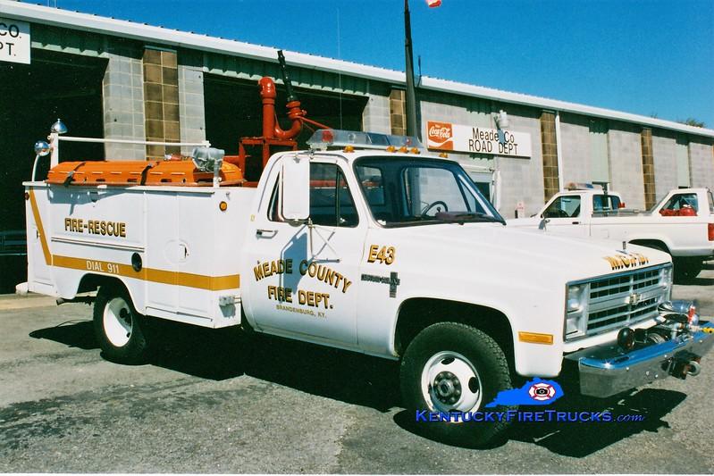 RETIRED <br /> Meade County  Engine 43<br /> 1978 Chevy/Morrison 250/250<br /> Greg Stapleton photo