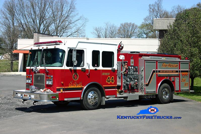 <center> REASSIGNED <br> Meade County  Engine 44 <br> 2000 Spartan Advantage/Smeal 1500/750/30 <br> Kent Parrish photo </center>