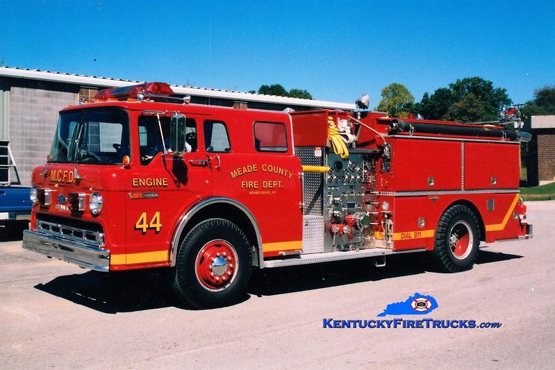RETIRED <br /> Meade County  Engine 44<br /> 1985 Ford C-8000/Grumman 1000/1000<br /> Greg Stapleton photo