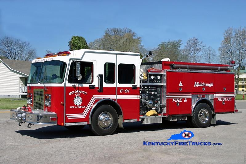<center> Muldraugh  Engine 9031 <br> 1999 Spartan MetroStar/Ferrara 1250/750 <br> Kent Parrish photo </center>