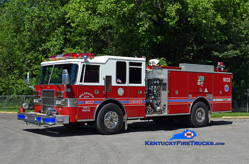 Muldraugh Engine 9033<br /> x-Okolona, KY<br /> 1994 Pierce Dash 1250/750<br /> Kent Parrish photo