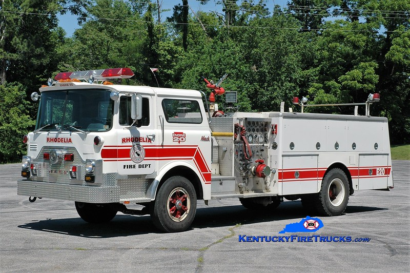Rhodelia  Engine 20<br /> x-Horsham, PA & Meade County, KY<br /> 1979 Mack CF 1250/1000<br /> Greg Stapleton photo