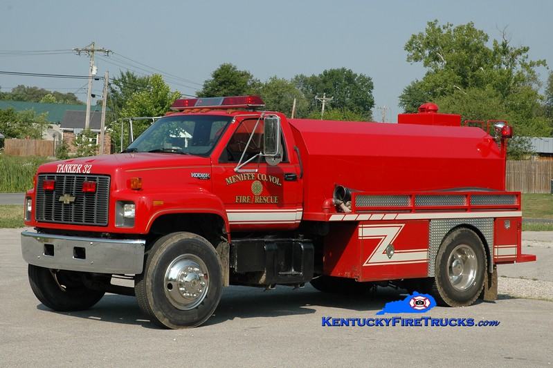 <center> Menifee County  Tanker 32 <br> 1993 Chevy Kodiak/Deep South  250/1800 <br> Greg Stapleton photo <br> </center>