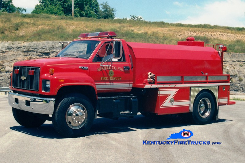 <center> Menifee County  Tanker 2 <br> 1993 Chevy Kodiak/Deep South  250/1800 <br> Greg Stapleton photo <br> </center>